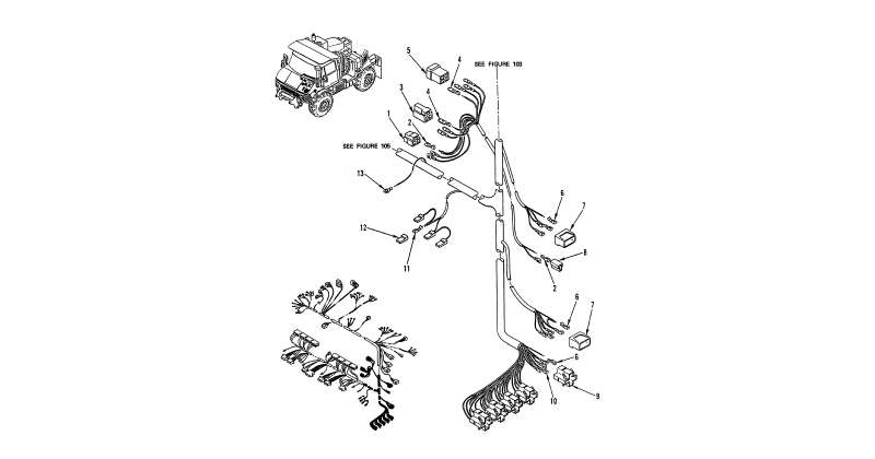 Hull or Chassis Wiring Harness – Main Wiring Harness (Figure 3 of 4)