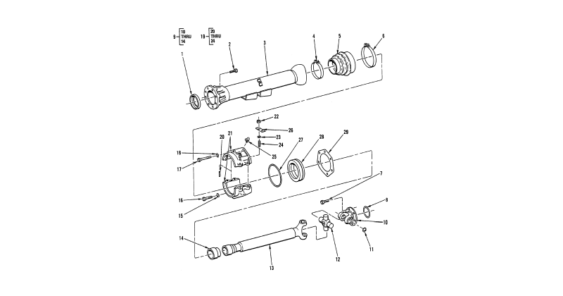 Propeller and Propeller Shafts – Propeller Shaft, and Thrust Ball Housing