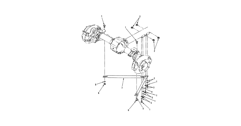 Front Axle, Front Axle Assembly – Front Axle Thrust Arms