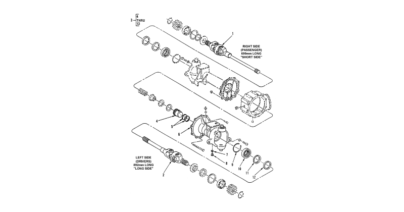 Front Axle Assembly – Left Vehicular Axle