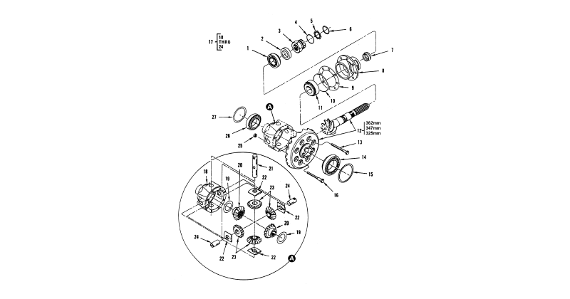 Differential – Front Axle Differential and Mechanical Housing