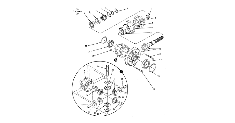 Differential – Rear Axle Differential and Mechanical Housing