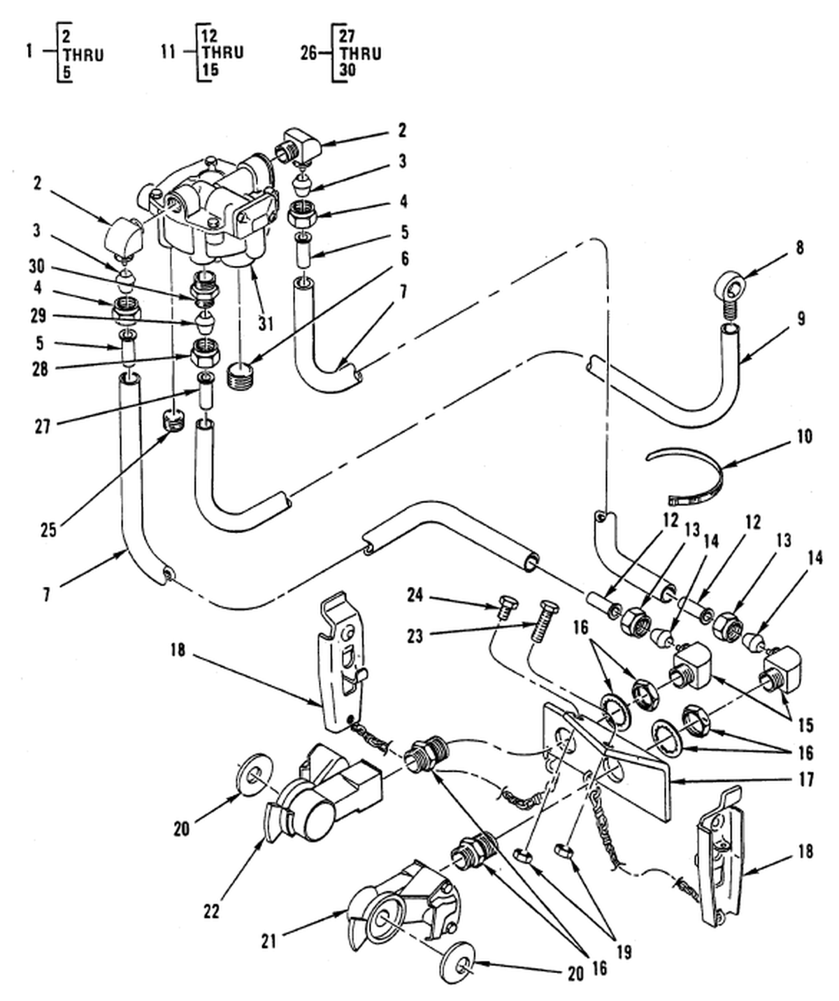 0166 00-2 figure 165  trailer brake connections and controls
