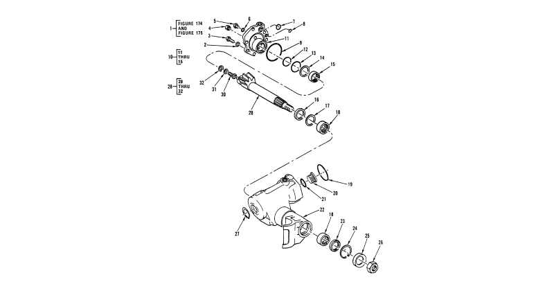 Power Steering Gear Assembly – Steering Gear, Access Cover, and Straight Shaft