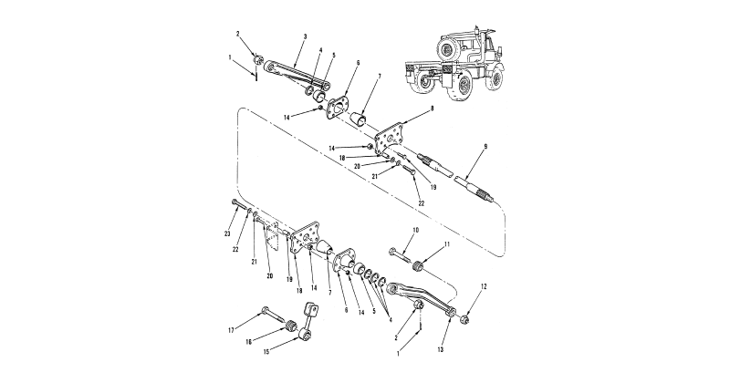 Torque, Radius, and Stabilizer Rods – Rear Axle Torsion Bar and Mounting