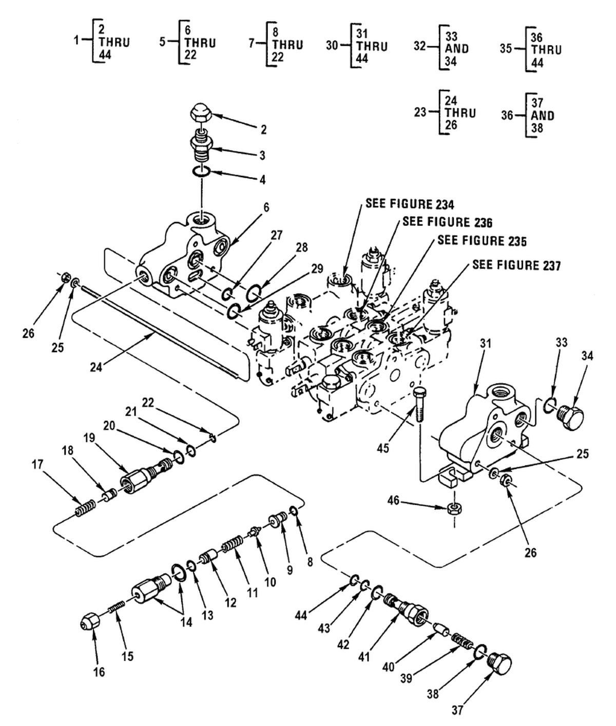 Forklift Hydraulic Control Valve Diagram Trusted Wiring Diagrams Toyota 0236 00 2 Figure 233 Front Loader Diverter