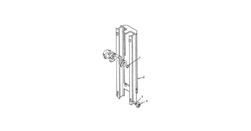 Hydraulic Mast Column – Forklift Rail Upright Mast Assembly