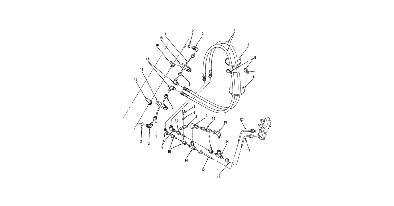 Hydraulic Lines and Fittings – Front Loader Hydraulic Lines and Fittings (Left Rollback Cylinder)