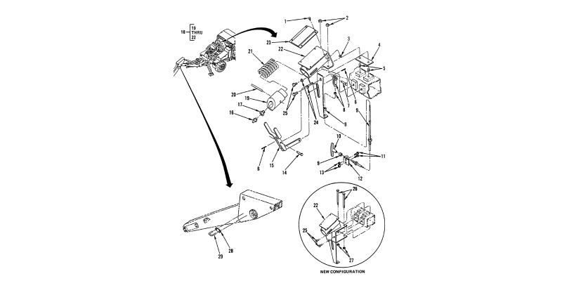 Backhoe Attachments - Control Assembly and Back Latch Assemblies
