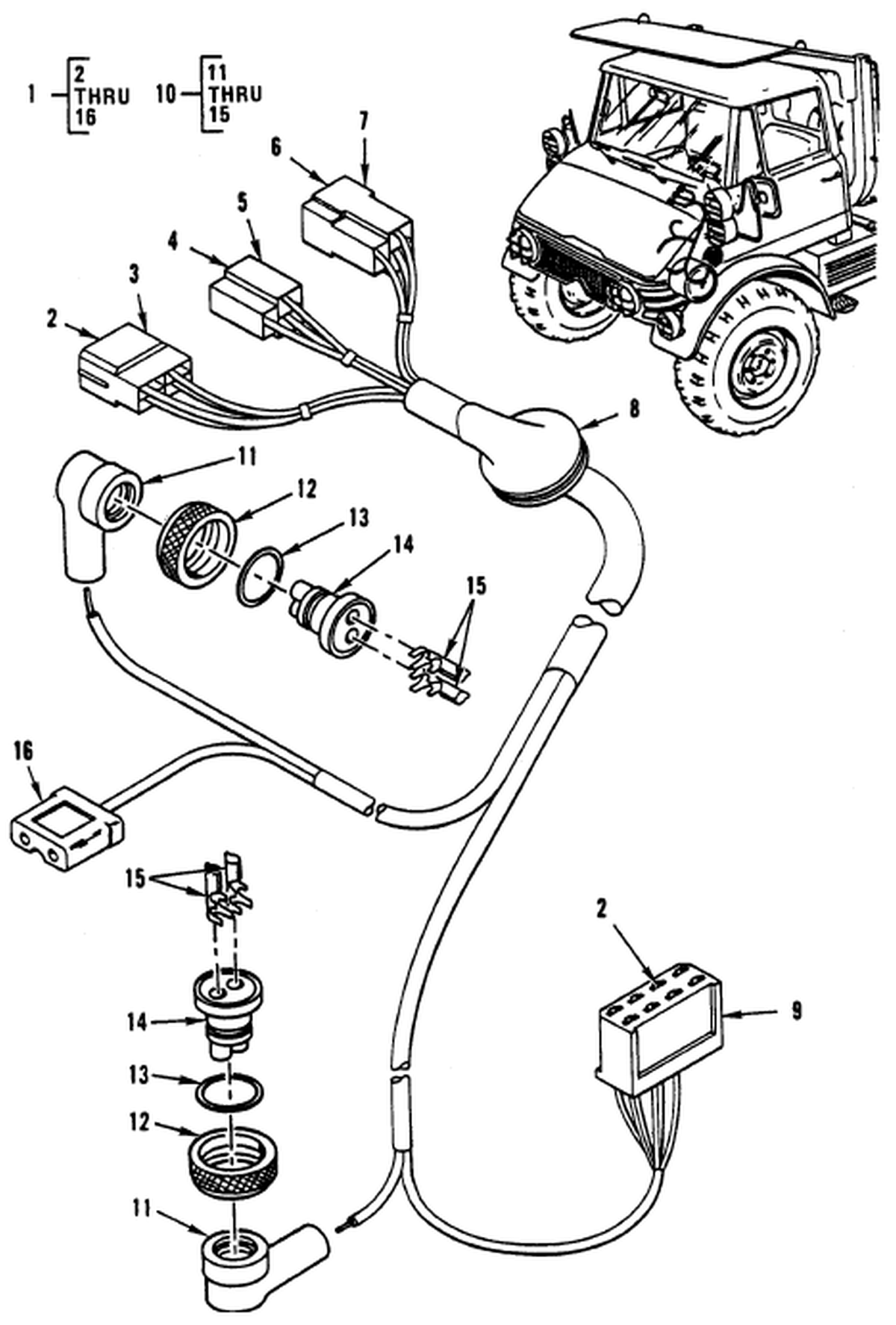 0091 00 2 Figure 90 Hull Or Chassis Wiring Harness