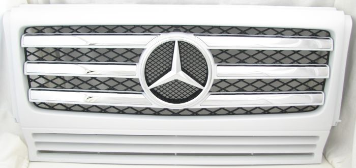 Front Grill, 2009 W463 - Chrome Accents
