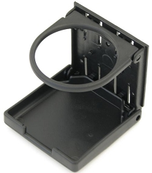 Cup Holder, Vertical Surface Mount - Black