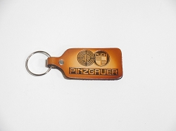 Pinzgauer Leather Stamped Key Chain