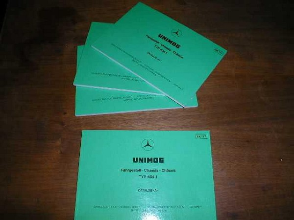 Unimog 404 Chassis Parts Manual