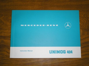 Unimog 404 Operators/Instruction  Manual