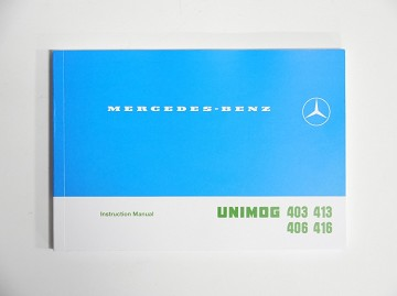 Unimog 403, 406, 413,  416  Operators/Instruction Manual