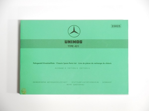 Unimog Chassis Spare Parts List